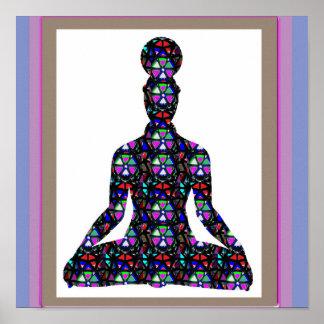 チャクラのヨガの黙想の図表のカルマ愛NVN639 ポスター