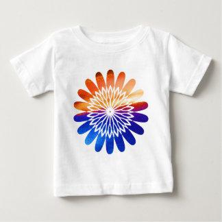 チャクラの円形の写実的な花の宝石 ベビーTシャツ