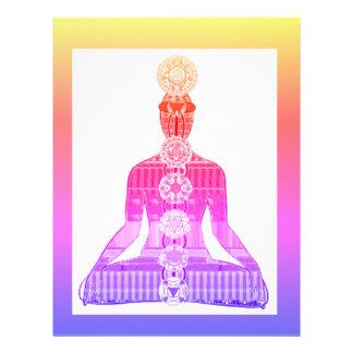 チャクラの図表のヨガの黙想の平和NVN630おもしろい レターヘッド