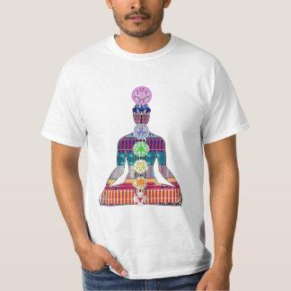 チャクラの図表のヨガの黙想の平和NVN630おもしろい Tシャツ