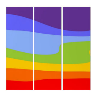 チャクラの景色の波の色 トリプティカ