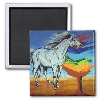 チャクラの木を持つ馬 マグネット