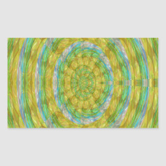 チャクラの緑の車輪の水晶は石造りのおもしろいのギフトに玉を付けます 長方形シール