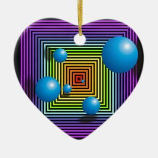 チャクラの色、円および正方形 セラミックオーナメント