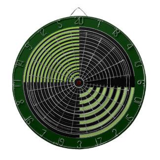 チャクラ109の斜子織の緑nの黒を放って下さい ダーツボード