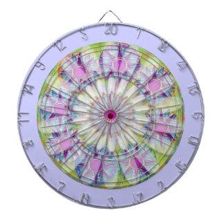 チャクラ124の倍数-花柄nの紫色の星--を放って下さい ダーツボード