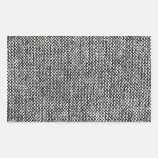 チャコールグレーのツイードの生地の質パターン 長方形シール