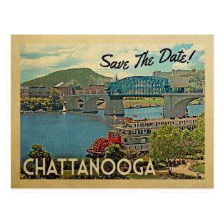 チャタヌーガの保存日付テネシー州 ポストカード