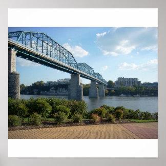 チャタヌーガの歩く橋プリント ポスター