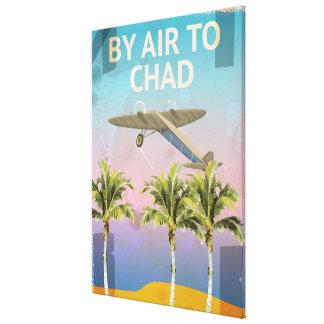 チャドのヴィンテージ旅行ポスター キャンバスプリント