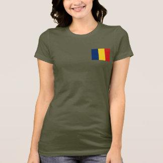 チャドの旗および地図dkのTシャツ Tシャツ