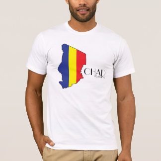チャドの旗の地図のワイシャツ Tシャツ