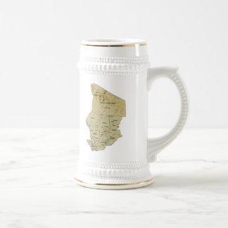 チャドの旗の~の地図のマグ ビールジョッキ
