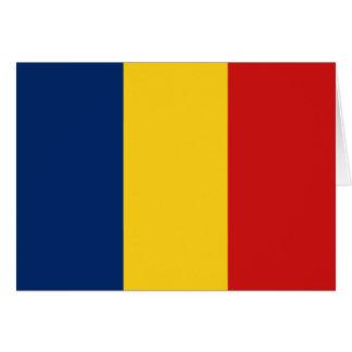 チャドの旗Notecard カード