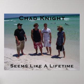 チャドの騎士は寿命のビーチポスターのようにようです ポスター
