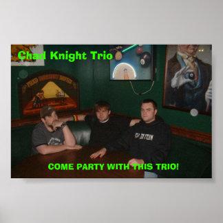 チャドの騎士トリオのパーティーポスター ポスター