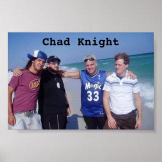 チャドの騎士バンドビーチポスター ポスター