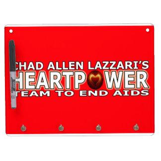 チャドアレンLazzari HEARTPOWER キーホルダーフック付きホワイトボード