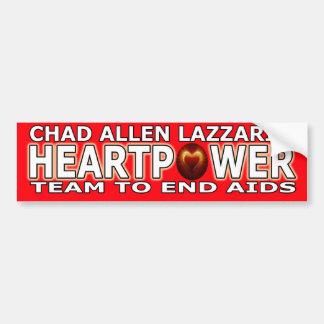 チャドアレンLazzari Heartpower バンパーステッカー