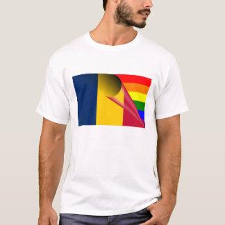 チャドゲイプライドの虹の旗 Tシャツ