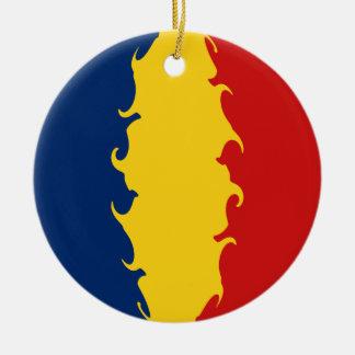 チャド|すごい|旗 クリスマスツリーオーナメント