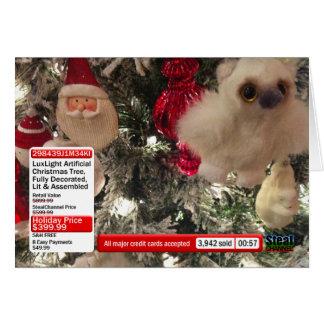 チャネルのショッピングのクリスマスカード カード