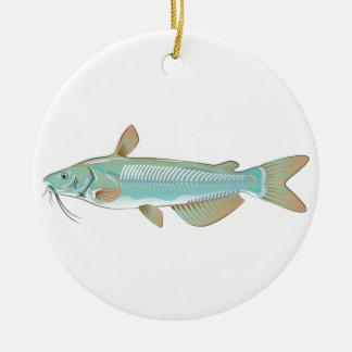 チャネルナマズの釣魚の農場の魚のシーフードの市場 セラミックオーナメント