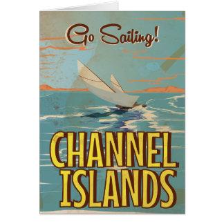 チャネル諸島のヴィンテージ旅行ポスター カード
