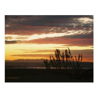 チャネル諸島の日没 ポストカード