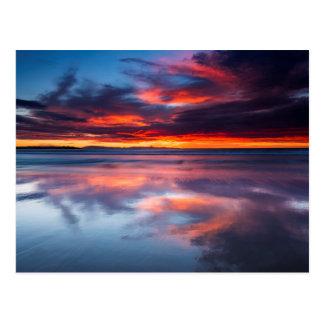 チャネル諸島上の日没、カリフォルニア ポストカード