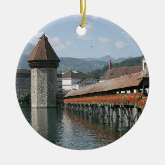 チャペル橋、ルツェルン、スイス連邦共和国 セラミックオーナメント