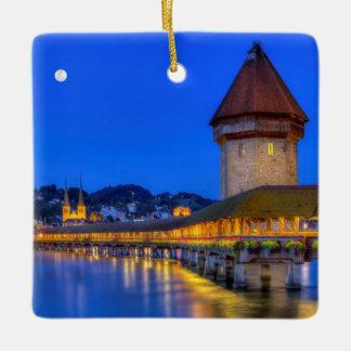 チャペル橋、Kapellbrucke、ルツェルン、スイス連邦共和国 セラミックオーナメント