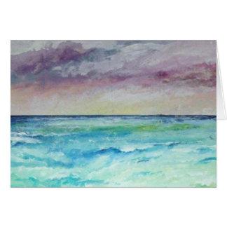 チャペルPorthからの海に カード