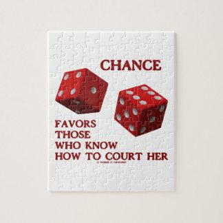 チャンスは裁判所にいかに彼女のサイコロを知っている人を支持します ジグソーパズル