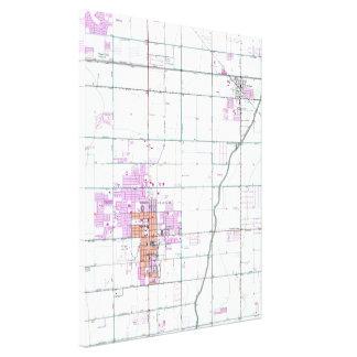 チャンドラー及びGilbertのアリゾナ(1952年)ヴィンテージの地図 キャンバスプリント