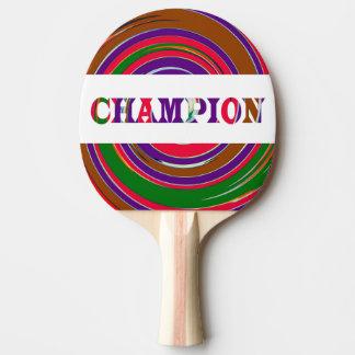 チャンピオンのカラフルな旋風はグラフィックを振ります ピンポンラケット