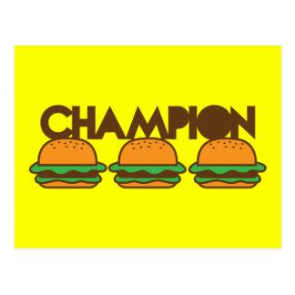 チャンピオンのハンバーガーyum! ポストカード