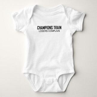 チャンピオンの列車の敗者はT-Shirts.png不平を言います ベビーボディスーツ