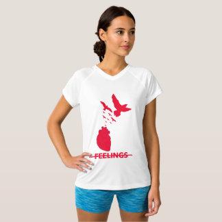 チャンピオンの感覚の二重乾燥したV首のTシャツ Tシャツ