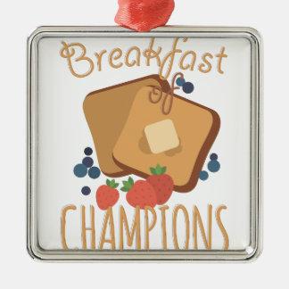 チャンピオンの朝食 メタルオーナメント