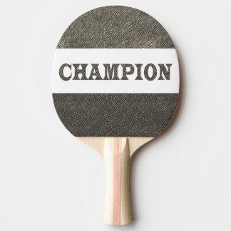 チャンピオンの赤いゴム背部金はすはホイルをエッチングしました 卓球ラケット