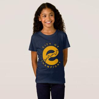 チャンピオンのTシャツのエドモントン都市 Tシャツ