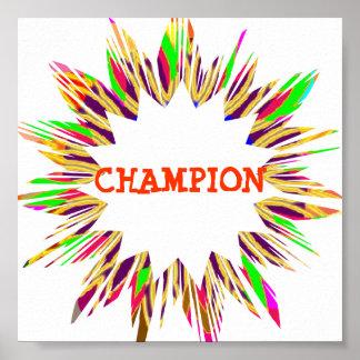 チャンピオン:  あなた専有物に文字を編集して下さい ポスター