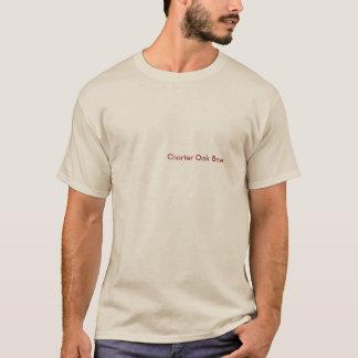 チャーターのカシのデラックスなTシャツ-砂 Tシャツ