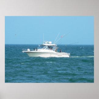 チャーターの漁船 ポスター