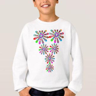 チャーミングなベビーのガーリーなお祝いのプリント スウェットシャツ