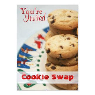 チャーミングなヴィンテージのクッキーの交換の休日カード カード