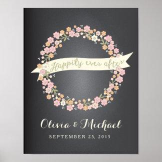 チャーミングな庭の花のリースIIの結婚ポスター ポスター