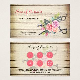 チャーミングな木製のはさみおよびバラのサロンのロイヤリティIII 名刺