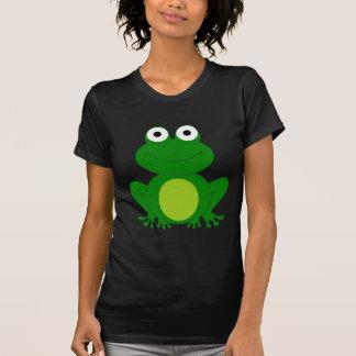 チャーミングな漫画のカエル Tシャツ